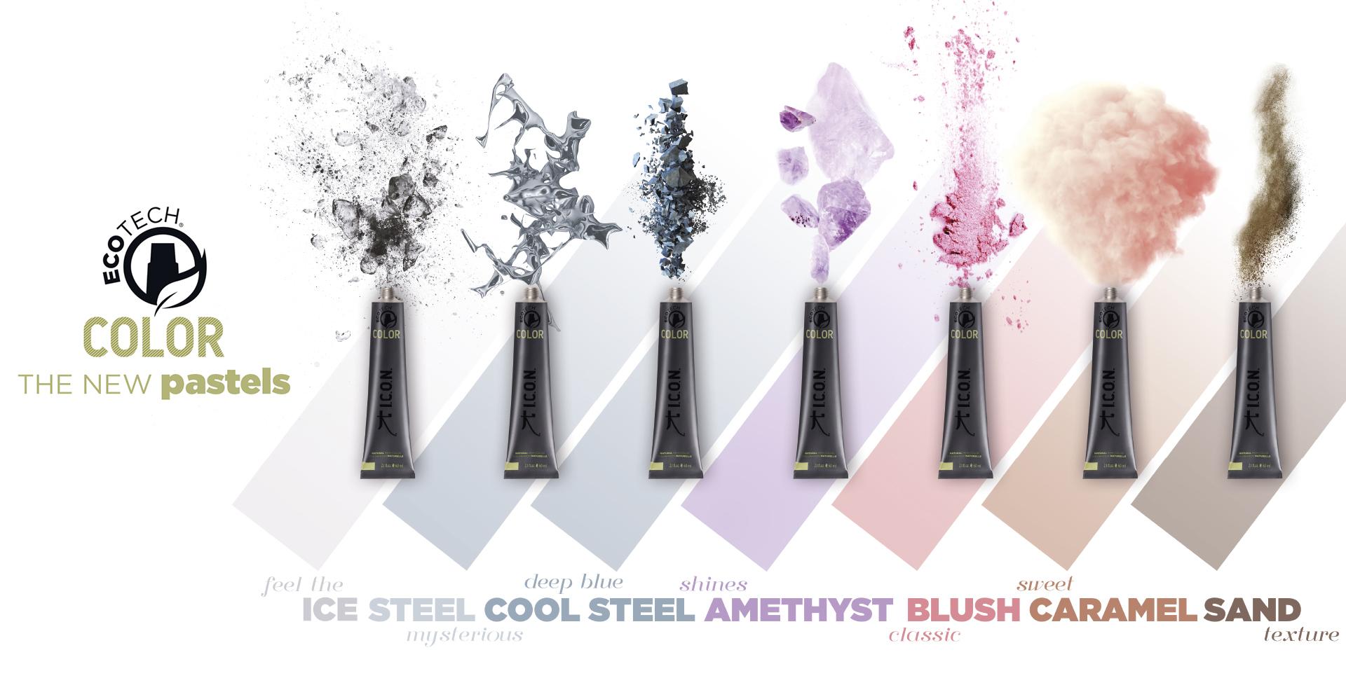 Nueva gama de colores pastel Ecotech